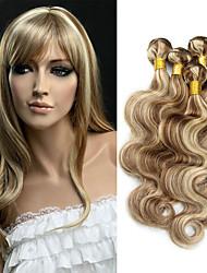 cheap -3 Bundles Brazilian Hair Wavy Human Hair Ombre Hair Weaves / Hair Bulk One Pack Solution Human Hair Extensions Multi-color Human Hair Weaves Soft Ombre Hair Unprocessed Human Hair Extensions / 8A