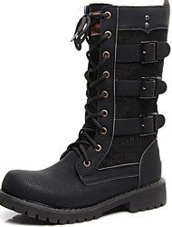 cheap -Men's Fashion Boots Synthetics Winter / Fall & Winter Classic / Casual Boots Non-slipping Knee High Boots Black / Party & Evening