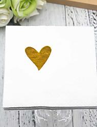 cheap -Pure Paper Wedding Napkins - 5 pcs Dinner Napkins Wedding / Valentine's Day Classic Theme