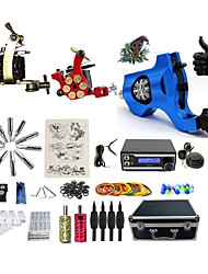cheap -BaseKey Professional Tattoo Kit Tattoo Machine - 3 pcs Tattoo Machines, Professional Level / Voltage Adjustable / Professional LED power supply 1 steel machine liner & shader / 1 rotary machine liner