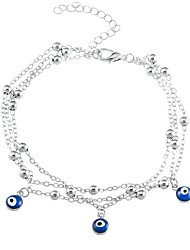 cheap -Women's Charm Bracelet Evil Eye Ladies Fashion Alloy Bracelet Jewelry Gold / Silver For Daily Going out