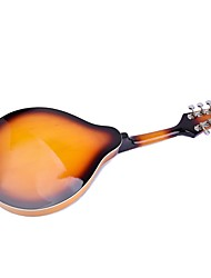 cheap -Music Instrument Mandolin Wooden Metal Musical Instruments 8 Strings A-Style Mandolin Professional Musical Instrument for Beginners and Youths Students
