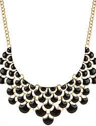 cheap -Statement Necklace Bib Drop Fashion Oversized Alloy Black 46 cm Necklace Jewelry For Birthday Evening Party
