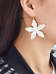 cheap -Drop Earrings Flower Ladies Fashion Imitation Pearl Earrings Jewelry White / Black / Pink For Daily Date