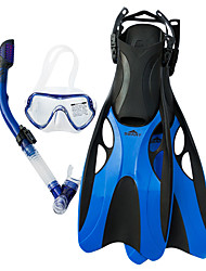 cheap -SBART Snorkeling Set Diving Package - Diving Mask Diving Fins Snorkel - Dry Top Long Blade Swimming Diving Silicone  For  Adults