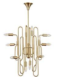 cheap -12 Bulbs JLYLITE 66 cm Mini Style Chandelier Metal Electroplated Artistic / Chic & Modern 110-120V / 220-240V