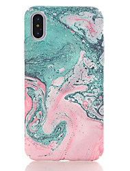 cheap -Case For Apple iPhone X / iPhone 8 Plus / iPhone 8 Pattern Back Cover Marble Hard PC