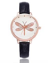 cheap -Women's Wrist Watch Quartz Quilted PU Leather Black / Brown Casual Watch Analog Ladies Minimalist - Black Brown