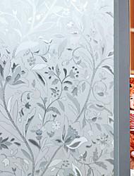 cheap -Window Film Stickers Decoration Floral PVC / Vinyl Matte Sticker