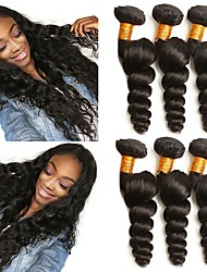 cheap -3 Bundles Brazilian Hair Loose Wave Virgin Human Hair Unprocessed Human Hair Extension Brands Outlet Black Natural Color Human Hair Weaves Gift Hot Sale 100% Virgin Human Hair Extensions / 10A