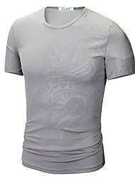 cheap -Men's T shirt Graphic Tribal Print Short Sleeve Daily Tops Basic White Black Blue