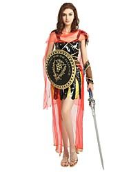 cheap -Soldier / Warrior Costume Women's Ancient Greek Ancient Rome Halloween Birthday Halloween Carnival Children's Day Festival / Holiday Polyster Black Women's Carnival Costumes Solid Colored Halloween