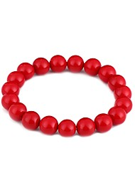 cheap -Women's Pearl Chain Bracelet Ladies Bohemian Natural Sweet Boho Pearl Bracelet Jewelry Red For Graduation Ceremony