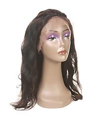 Недорогие -Laflare Перуанские волосы 360 Лобовой Волнистый Бесплатный Часть / Средняя часть / 3 Часть Швейцарское кружево Натуральные волосы Жен. С детскими волосами / Классический / Для темнокожих женщин