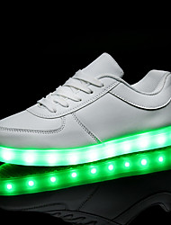 cheap -Men's / Women's Sneakers LED Shoes Flat Heel LED PU LED / Comfort / LED Shoes Spring / Fall Black / White / EU40