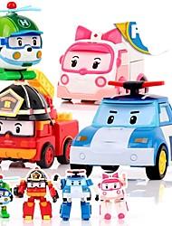 Недорогие -Фигурки животных Автомобиль трансформируемый Пластиковый корпус 4 pcs Детские