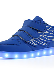 cheap -Boys' Girls' Sneakers LED LED Shoes USB Charging PU Little Kids(4-7ys) Big Kids(7years +) Daily Walking Shoes Buckle LED Luminous White Black Red Fall Winter / Rubber