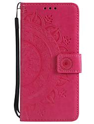 Недорогие -Кейс для Назначение Motorola MOTO G6 / Moto G6 Plus / Мото G5 Plus Кошелек / Бумажник для карт / Флип Чехол Цветы Твердый Кожа PU