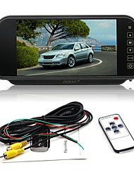 cheap -ZIQIAO 7 Inch Color TFT LCD Car Rear View Mirror Monitor Auto Vehicle Parking Rearview Monitor for Reverse Camera