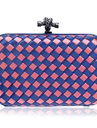 cheap -Women's Buttons Polyester Evening Bag Wedding Bags Black / Purple / Red