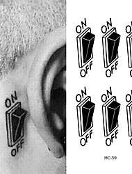 cheap -10 pcs Tattoo Stickers Temporary Tattoos Flower Series Body Arts Arm