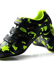 cheap -Tiebao® Road Bike Shoes Carbon Fiber Anti-Slip Cycling Green / Black Men's Cycling Shoes / Hook and Loop