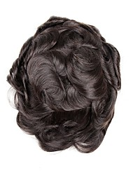 abordables -Homme Cheveux humains Postiches 100 % Tissée Main