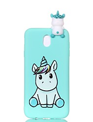 cheap -Case For Samsung Galaxy J7 (2017) / J7 (2016) / J5 (2017) Pattern / DIY Back Cover Unicorn Soft TPU