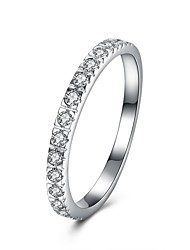 cheap -Band Ring Cubic Zirconia Silver S925 Sterling Silver Ladies Fashion Small 6 7 8 9 / Women's