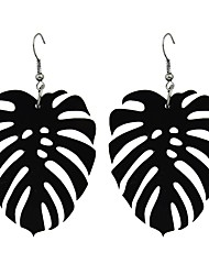 cheap -Drop Earrings Leaf Ladies Fashion Earrings Jewelry Black For Gift Date