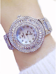 cheap -Women's Luxury Watches Dress Watch Diamond Watch Japanese Quartz Stainless Steel Gold 50 m Chronograph Luminous Large Dial Analog Ladies Luxury Sparkle Bling Bling - Gold Silver Rose Gold / Silver