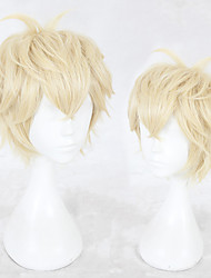 cheap -Synthetic Wig Straight Layered Haircut Wig Blonde Short Blonde Synthetic Hair Men's Natural Hairline Blonde
