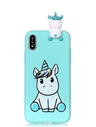 cheap -Case For Apple iPhone X / iPhone 8 Plus / iPhone 8 Pattern / DIY Back Cover Unicorn / Cartoon Soft TPU