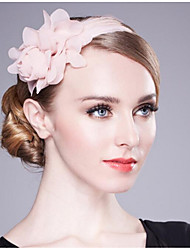 cheap -Chiffon Headbands with Feather / Floral 1 Piece Wedding / Birthday Headpiece