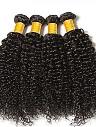 cheap -4 Bundles Burmese Hair Kinky Curly Human Hair Natural Color Hair Weaves / Hair Bulk Bundle Hair Human Hair Extensions 8-28 inch Natural Color Human Hair Weaves Women Extention Best Quality Human Hair