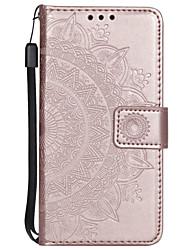 cheap -Case For Sony Xperia XA XA1 XA1 ULTRA XA2 XA2 ULTRA XZ XZ1 SONNY1 II SONNY10 II Card Holder Flip Pattern Full Body Cases Flower PU Leather TPU