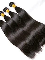 cheap -4 Bundles Brazilian Hair Straight Human Hair Natural Color Hair Weaves / Hair Bulk One Pack Solution Human Hair Extensions 8-28 inch Natural Color Human Hair Weaves Extention Best Quality Hot Sale