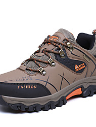 cheap -Men's Sneakers Hiking Shoes Hiking Boots Anti-Slip Breathable Comfortable Hiking Climbing Travel Spring Summer Mineral Green Grey Brown / Round Toe
