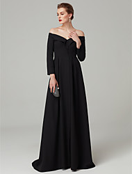 cheap -Ball Gown Off Shoulder Floor Length Spandex Open Back / Celebrity Style Formal Evening / Black Tie Gala Dress with Draping / Pleats 2020