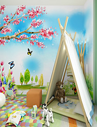 cheap -Custom Hand Drawn Fantasy Cartoon Cabin 3D Large Wallcovering Mural Wallpapers Fitted Bedroom Restaurant Children