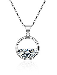 cheap -Women's Diamond Cubic Zirconia Pendant Necklace Geometrical Ladies Korean Fashion Zircon Alloy White 55 cm Necklace Jewelry For Ceremony Holiday