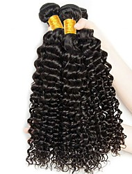 cheap -3 Bundles Brazilian Hair Curly Deep Wave Human Hair Brands Outlet Human Hair Extensions Black Natural Color Human Hair Weaves Hot Sale For Black Women Coloring Human Hair Extensions / 8A