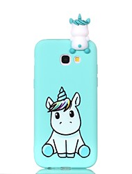 cheap -Case For Samsung Galaxy A3(2017) / A5(2017) / A5(2016) Pattern / DIY Back Cover Unicorn Soft TPU
