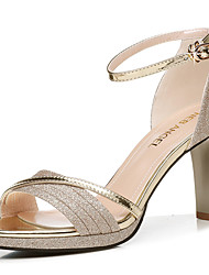 cheap -Women's Sandals Stiletto Heel Peep Toe Synthetics Sweet / Minimalism Summer / Spring & Summer Gold / Silver / Party & Evening / Party & Evening