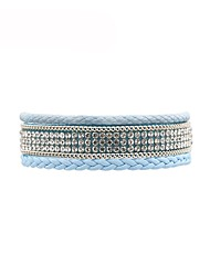 cheap -Women's Leather Bracelet Ladies Fashion Leather Bracelet Jewelry Blue / Pink For Gift Daily
