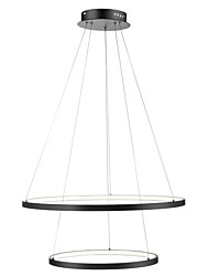 cheap -Ecolight™ 2-Light Circular Pendant Light Ambient Light Painted Finishes Metal Acrylic Dimmable, LED 110-120V / 220-240V Warm White / White LED Light Source Included / LED Integrated