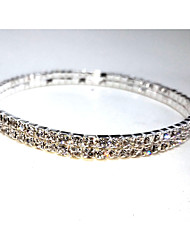 cheap -Women's Bracelet Bangles Tennis Bracelet Ladies Crystal Bracelet Jewelry Silver For Wedding / Silver Plated