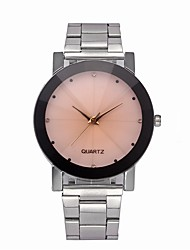cheap -Men's Fashion Watch Quartz Stainless Steel Silver 30 m Chronograph Analog Casual - Silver Pink Silver / Black One Year Battery Life / SSUO LR626