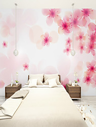cheap -Customized Peach Blossom 3D Large Wallcovering Mural Wallpapers Fitted Bedroom Restaurant Children