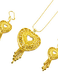 cheap -Jewelry Set Heart Ladies Sweet Fashion African Earrings Jewelry Gold For Wedding Party